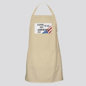 Love Not Hate Makes America Great Apron
