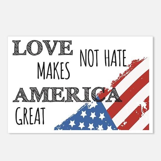 Love Not Hate Makes Ameri Postcards (Package of 8)