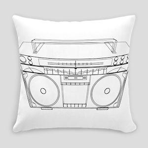 Boombox Everyday Pillow