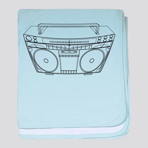 Boombox baby blanket