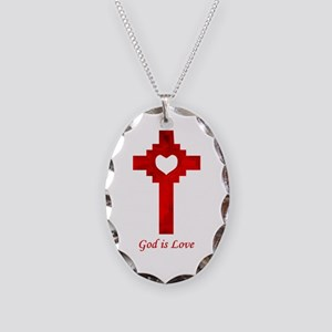 God Is Love - Necklace Oval Charm