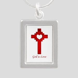 God Is Love - Silver Portrait Necklace