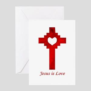 Jesus Is Love - Greeting Card