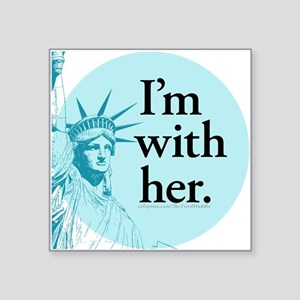 I'm With Her - L Sticker