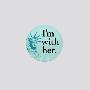 I'm With Her - L Mini Button
