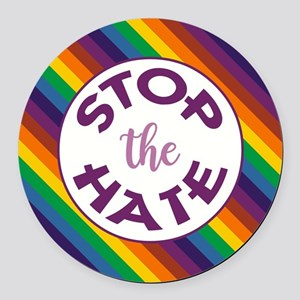 STOP THE HATE. Round Car Magnet
