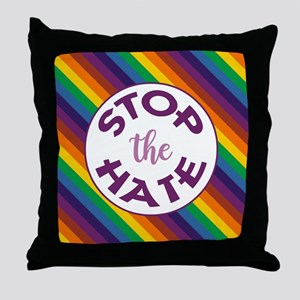 STOP THE HATE. Throw Pillow
