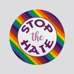 STOP THE HATE. Button
