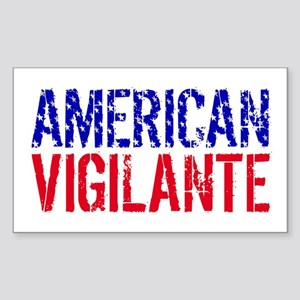 American Vigilante Rectangle Sticker