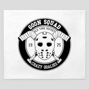 Hockey Mask Print King Duvet