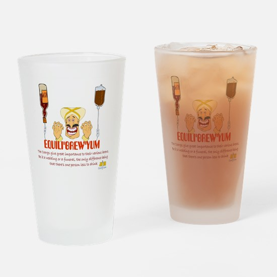 Funny India Drinking Glass