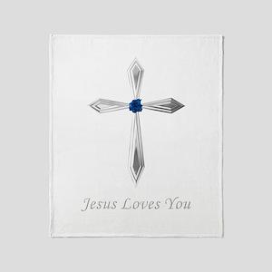 Jesus Loves You - Throw Blanket