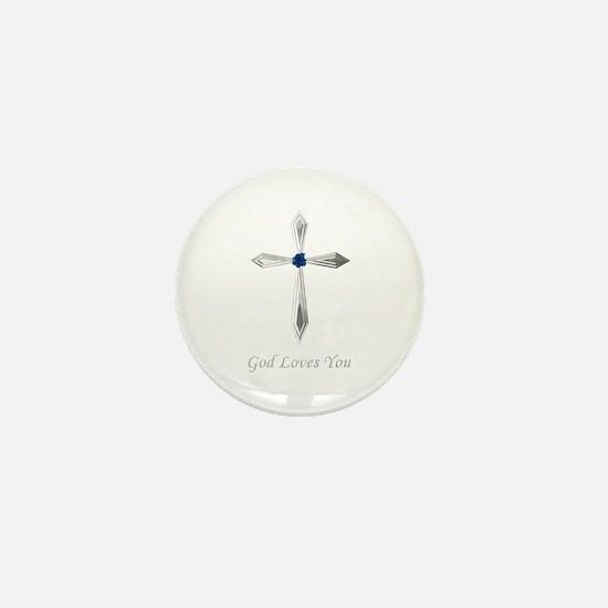 God Loves You - Mini Button