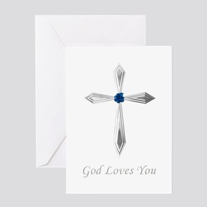 God Loves You - Greeting Card