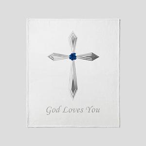 God Loves You - Throw Blanket