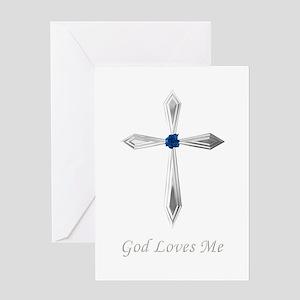 God Loves Me - Greeting Card