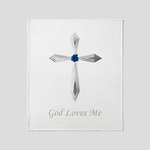 God Loves Me - Throw Blanket