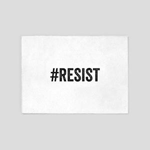 Resist Hashtag Anti Donald Trump 5'x7'Area Rug