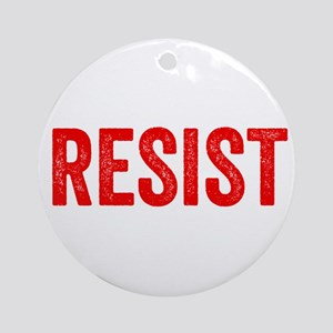 Resist Hashtag Anti Donald Trump Round Ornament