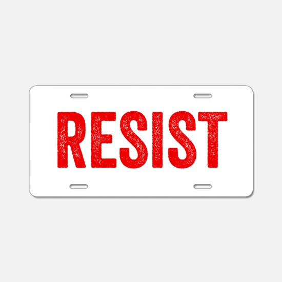 Resist Hashtag Anti Donald Trump Aluminum License