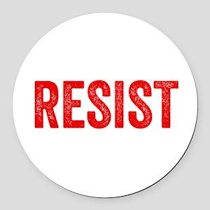 Resist Hashtag Anti Donald Trump Round Car Magnet