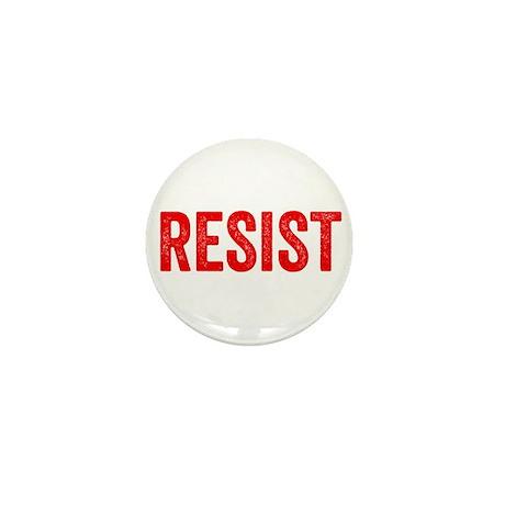 Resist Hashtag Anti Donald Trump Mini Button