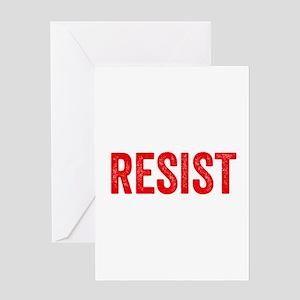 Resist Hashtag Anti Donald Trump Greeting Cards