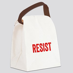 Resist Hashtag Anti Donald Trump Canvas Lunch Bag