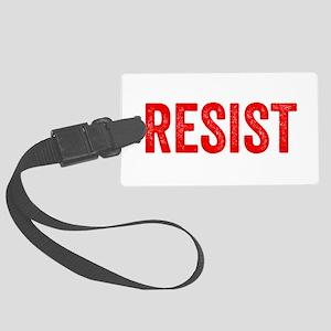 Resist Hashtag Anti Donald Trump Large Luggage Tag