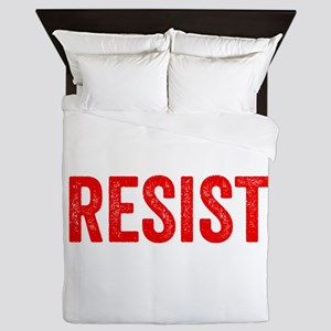 Resist Hashtag Anti Donald Trump Queen Duvet