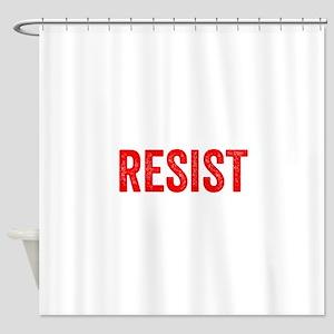 Resist Hashtag Anti Donald Trump Shower Curtain