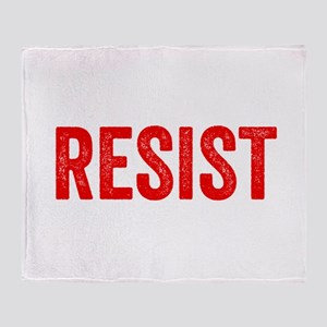 Resist Hashtag Anti Donald Trump Throw Blanket