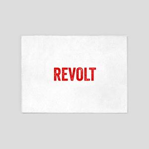 Revolt Resist Anti Donald Trump 5'x7'Area Rug