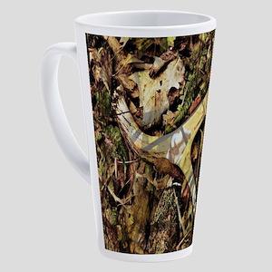 outdoors antler Hunter camouflage 17 oz Latte Mug