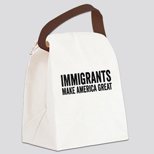 Immigrants Make America Great Canvas Lunch Bag