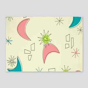 Boomerangs and Starbursts 5'x7'Area Rug