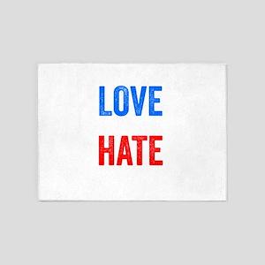 Love Trumps Hate Resist Anti Donald Trump 5'x7'Are