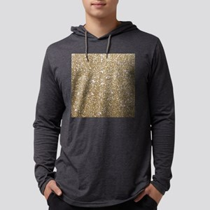 Girly Glam Gold Glitters Long Sleeve T-Shirt