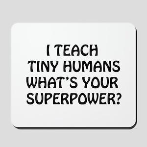 I Teach Tiny Humans Mousepad