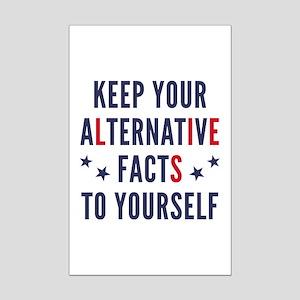 Alternative Facts Mini Poster Print