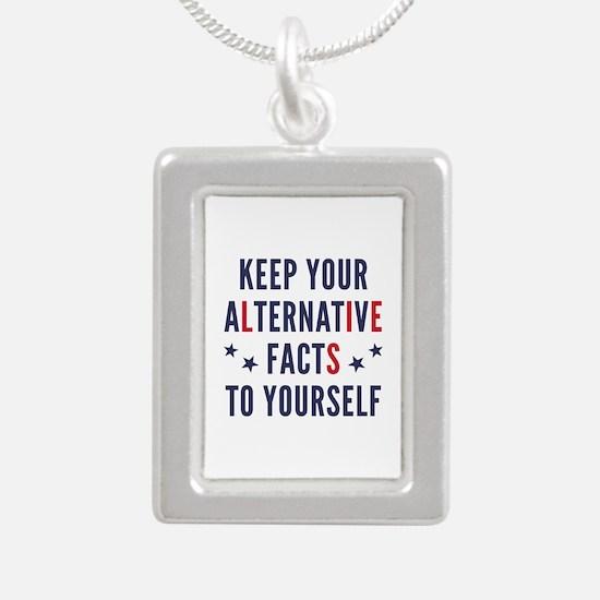 Alternative Facts Silver Portrait Necklace