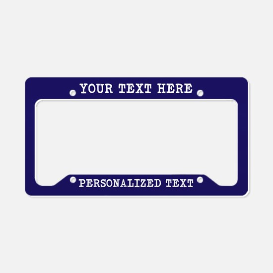 Personalized License Plate Holder