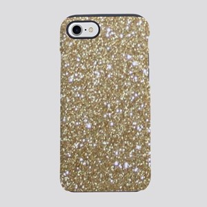 Girly Glam Gold Glitter iPhone 8/7 Tough Case