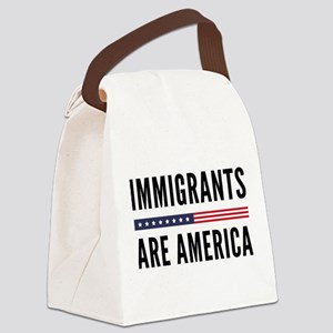 Immigrants Are America Canvas Lunch Bag