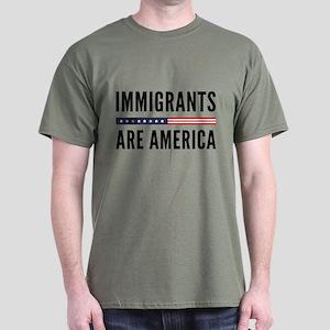 Immigrants Are America Dark T-Shirt