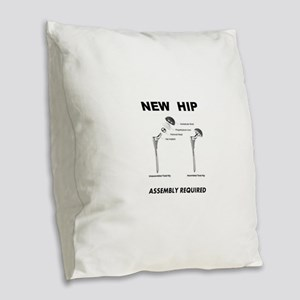 New Hip - Assembly Required Burlap Throw Pillow
