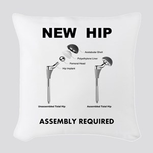 New Hip - Assembly Required Woven Throw Pillow