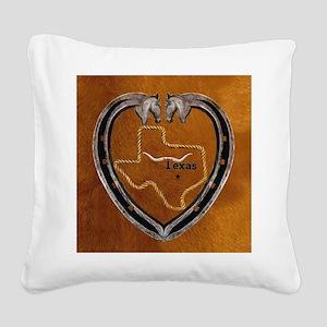 Texas Pride Square Canvas Pillow