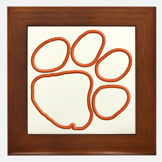 tigerpaw.jpg Framed Tile