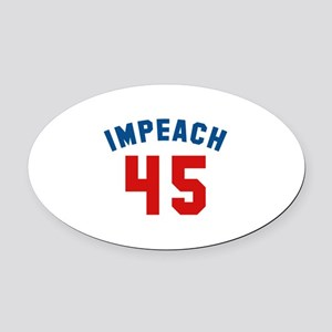 Impeach 45 Oval Car Magnet